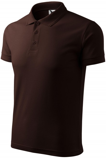Men's loose polo shirt Coffee