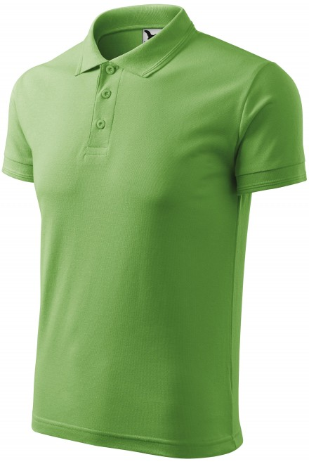 Men's loose polo shirt Grass green