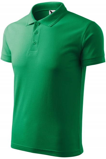 Men's loose polo shirt Kelly green