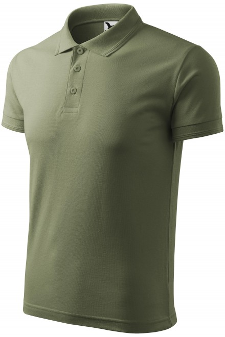 Men's loose polo shirt Khakifarbene