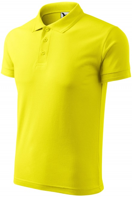 Men's loose polo shirt Lemon
