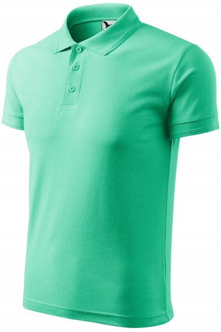 Men's loose polo shirt Mint