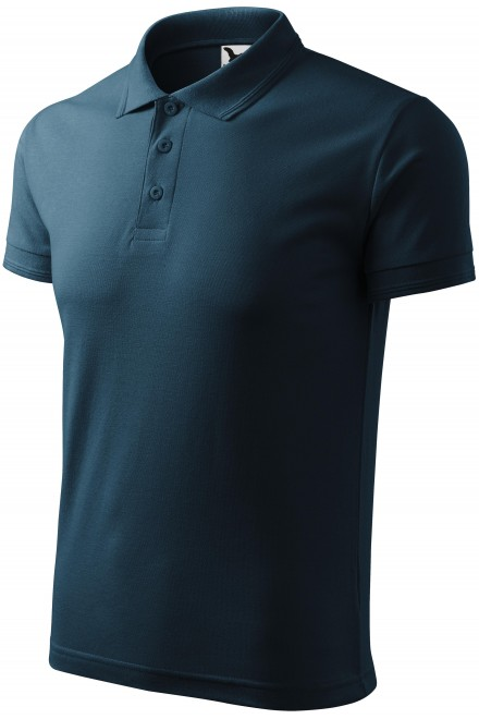Men's loose polo shirt Navy blue