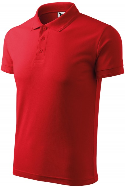 Men's loose polo shirt Red