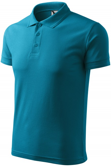 Men's loose polo shirt Turquoise