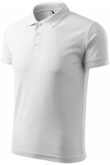 Men's loose polo shirt White