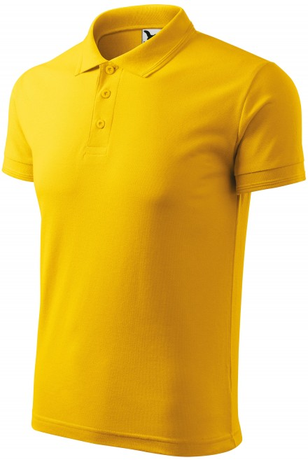 Men's loose polo shirt Yellow