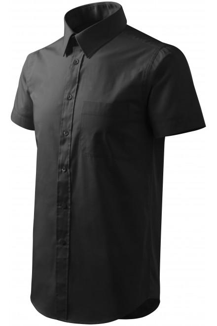 Men's shirt with short sleeves Black