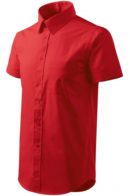 Men's shirt with short sleeves Red