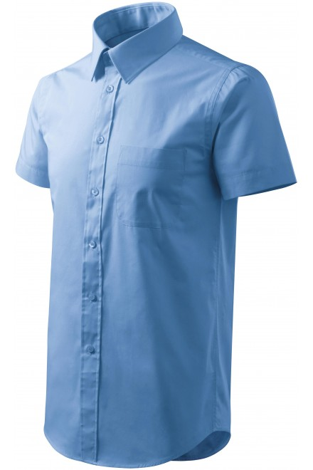 Men's shirt with short sleeves Sky blue