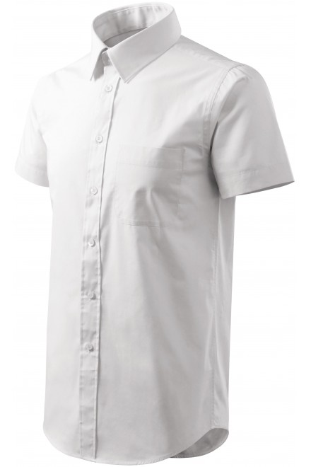 Men's shirt with short sleeves White