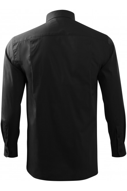 Black men's shirt with long sleeves