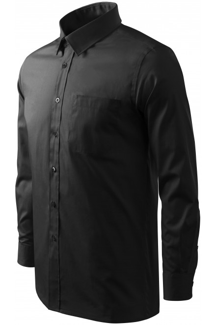 Men's shirt with long sleeves Black