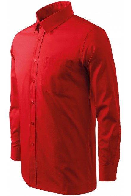 Men's shirt with long sleeves Red