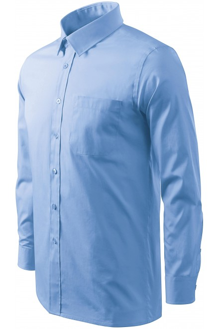 Men's shirt with long sleeves Sky blue
