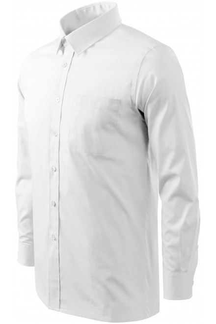 Men's shirt with long sleeves White