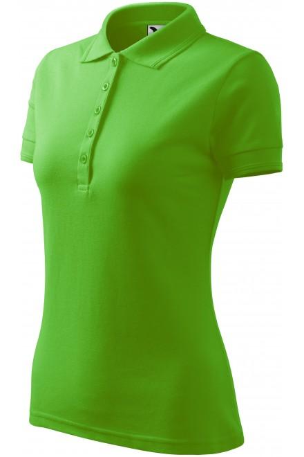 Ladies elegant polo shirt Apple green