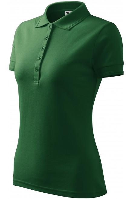 Ladies elegant polo shirt Bottle green