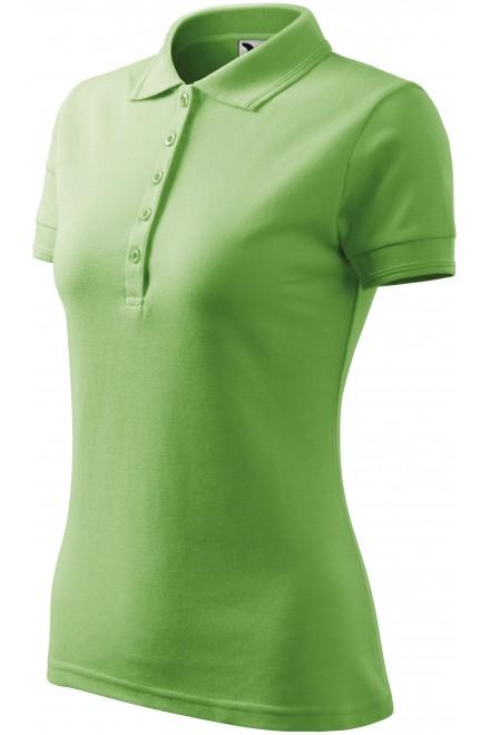 Ladies elegant polo shirt Grass green