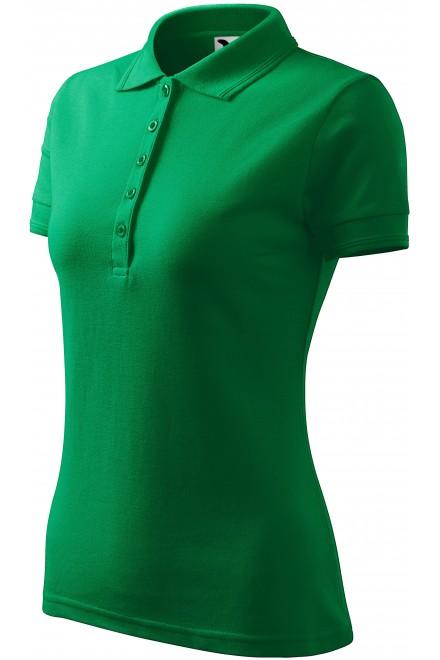 Ladies elegant polo shirt Kelly green