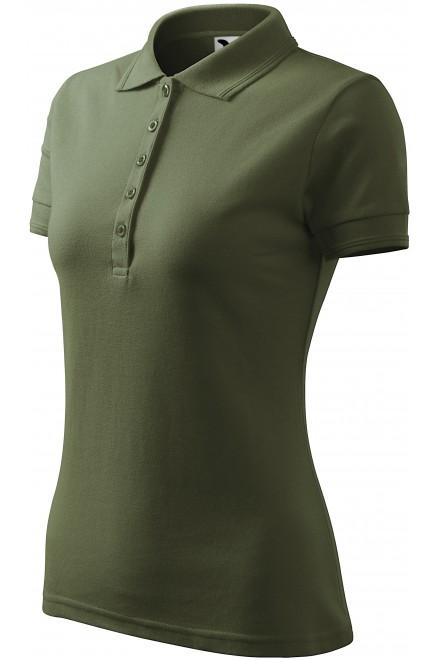 Ladies elegant polo shirt Khakifarbene