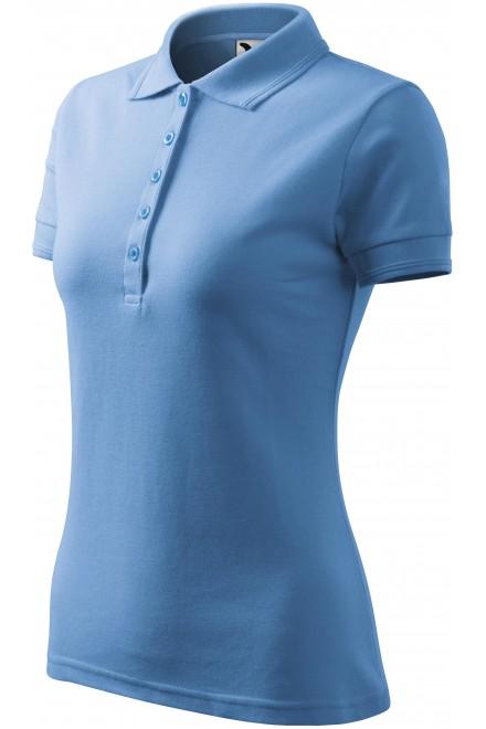 Ladies elegant polo shirt Sky blue