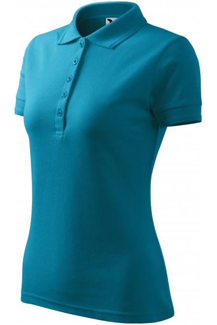 Ladies elegant polo shirt Turquoise