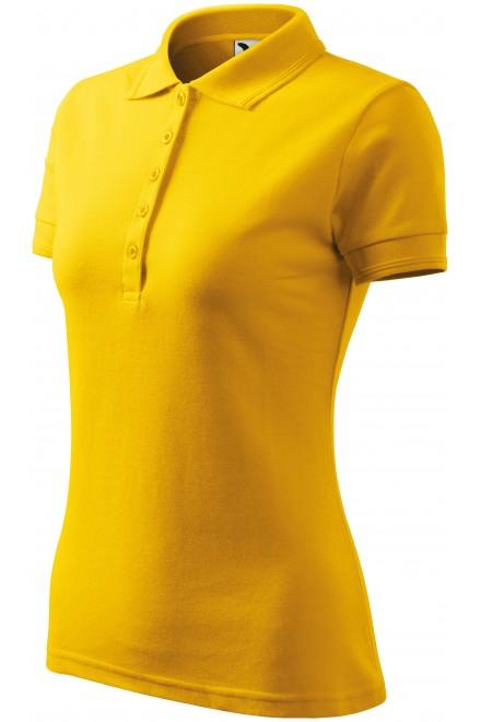 Ladies elegant polo shirt Yellow
