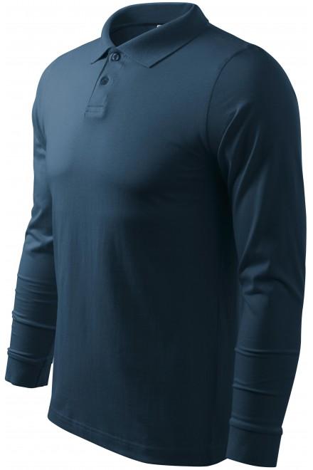 Men's long sleeve polo shirt Navy blue