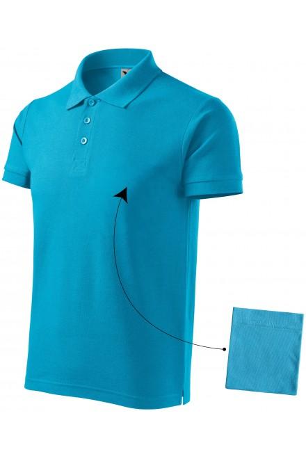 Men's elegant polo shirt Bblue atol