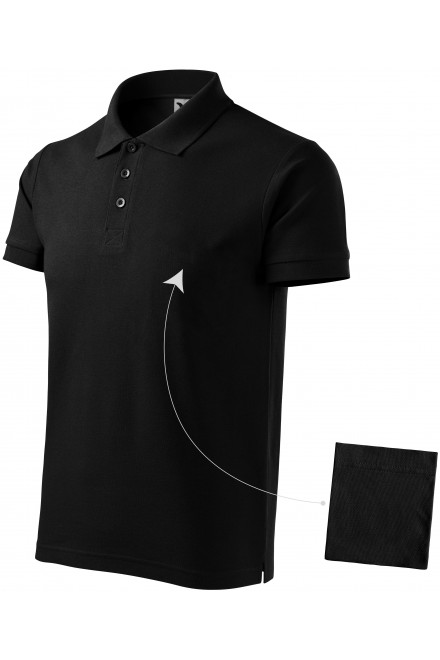 Men's elegant polo shirt Black