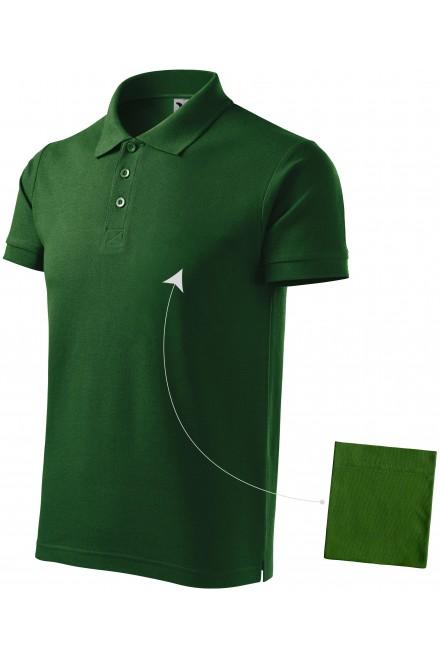 Men's elegant polo shirt Bottle green