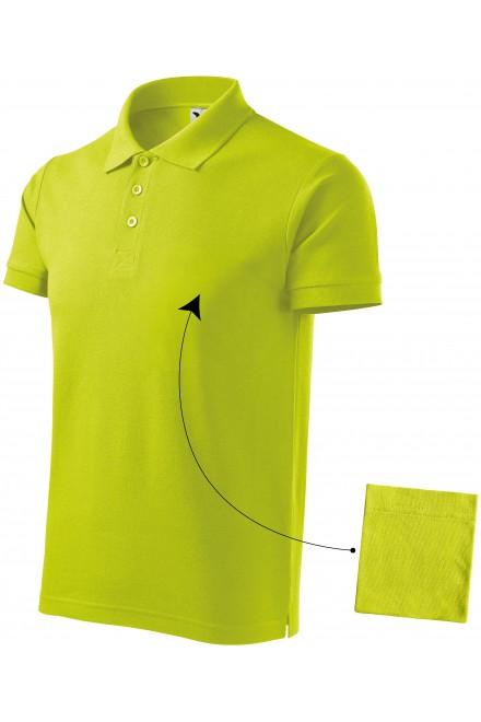 Men's elegant polo shirt Lime green