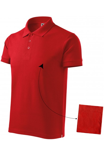 Men's elegant polo shirt Red