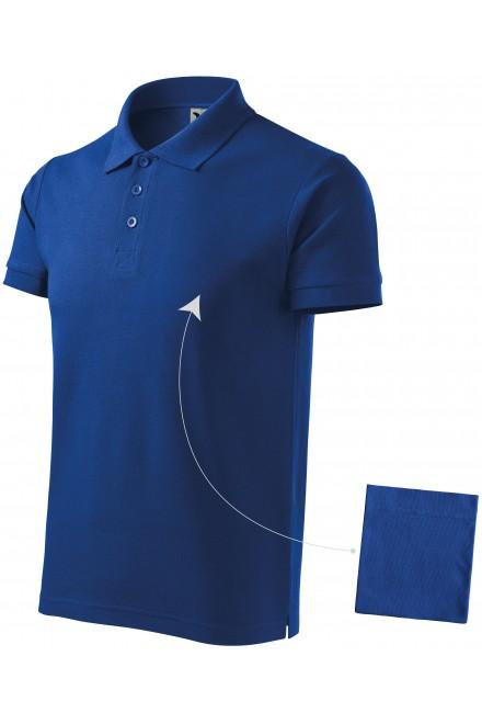 Men's elegant polo shirt Royal blue