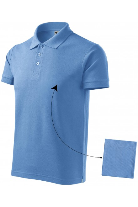 Men's elegant polo shirt Sky blue
