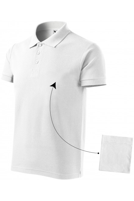 Men's elegant polo shirt White