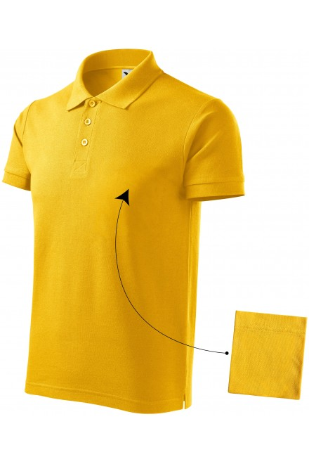 Men's elegant polo shirt Yellow