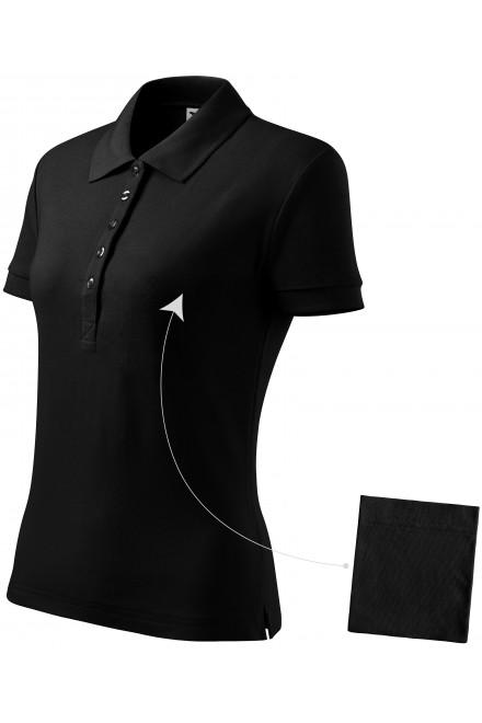 Ladies simple polo shirt Black