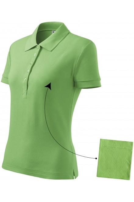Ladies simple polo shirt Grass green