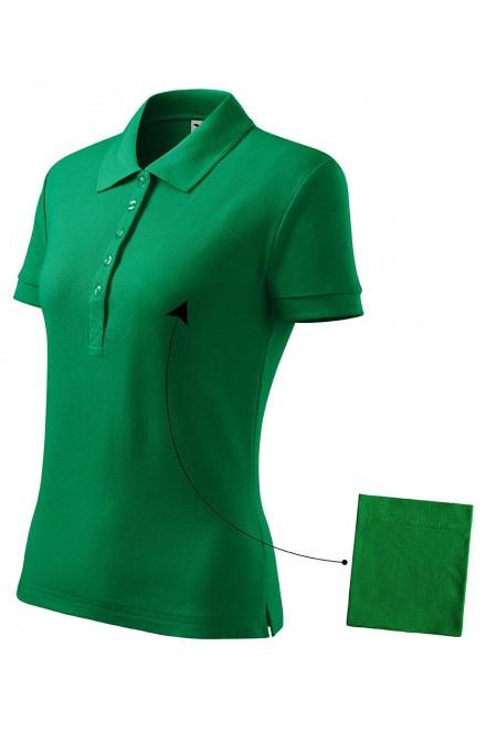 Ladies simple polo shirt Kelly green