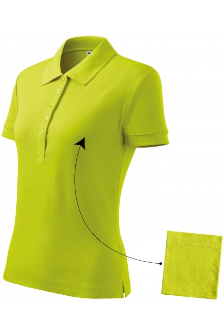 Ladies simple polo shirt Lime green