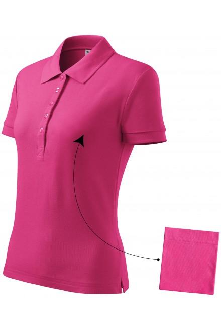 Ladies simple polo shirt Magenta