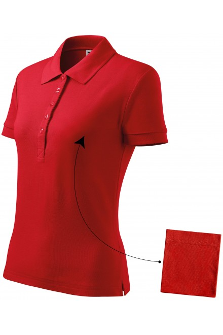 Ladies simple polo shirt Red