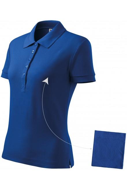 Ladies simple polo shirt Royal blue