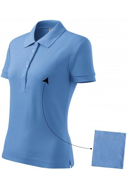 Ladies simple polo shirt Sky blue