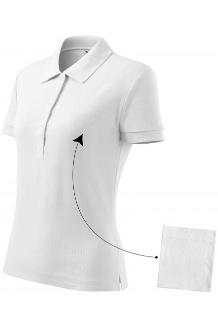 Ladies simple polo shirt White