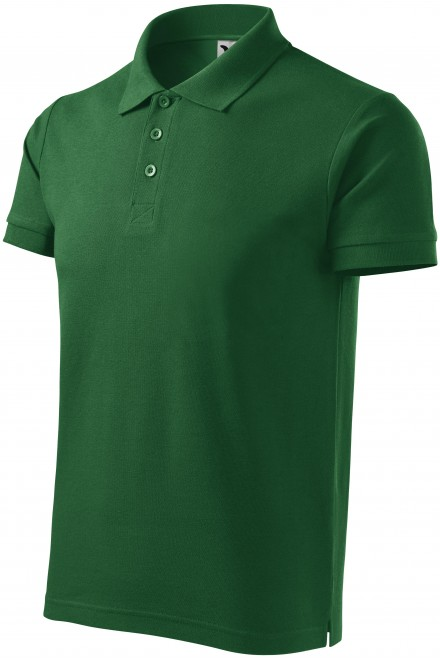 Men's heavier polo shirt Bottle green