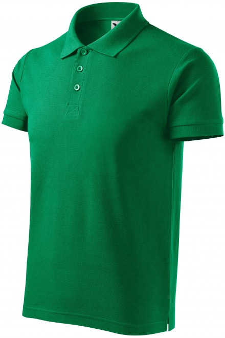 Men's heavier polo shirt Kelly green