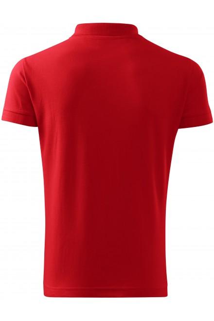 Red men's heavier polo shirt